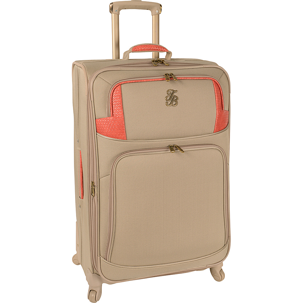 Tommy Bahama Belle of the Beach 28 Expandable Spinner Champagne Coral Tommy Bahama Softside Checked