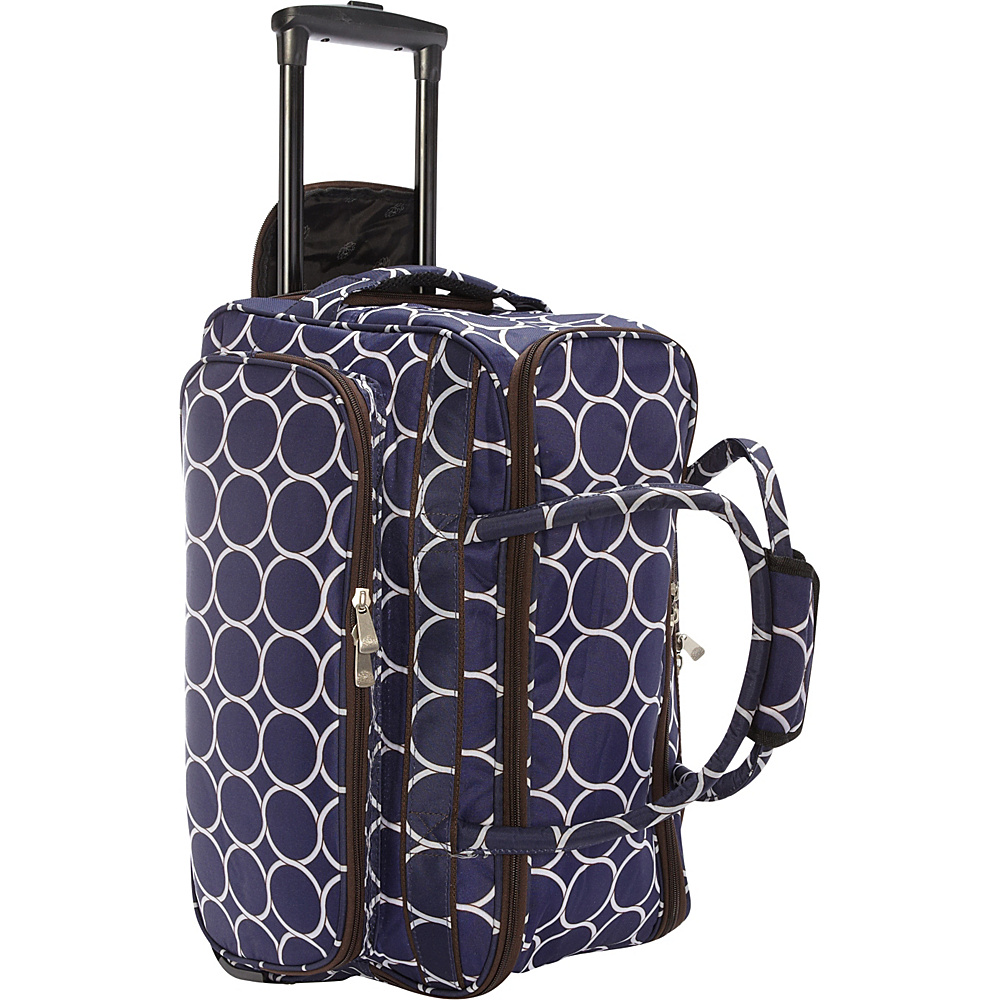 Jenni Chan Park Ave. Soft Carry All Duffel Navy Jenni Chan Rolling Duffels