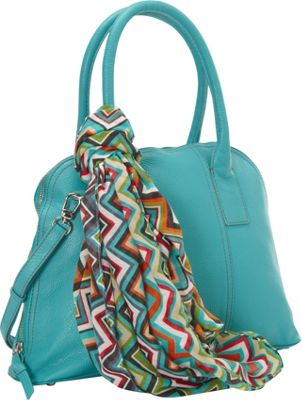 Hadaki Hannah's Bowling Bag Viridian Green - Hadaki Leather Handbags