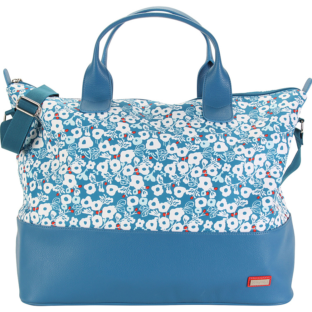 Hadaki Hamptons Tote Berry Blossom Teal - Hadaki Luggage Totes and Satchels - Luggage, Luggage Totes and Satchels