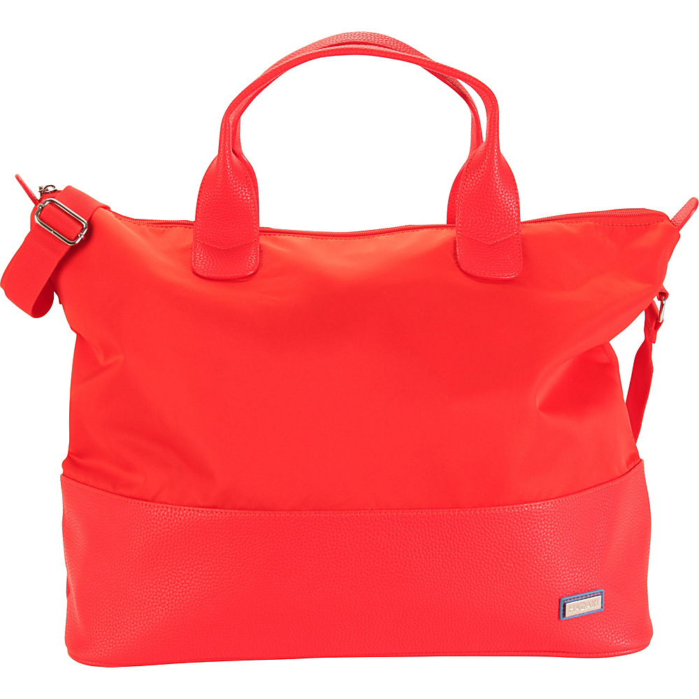 Hadaki Hamptons Tote Fiery Red Solid - Hadaki Luggage Totes and Satchels - Luggage, Luggage Totes and Satchels