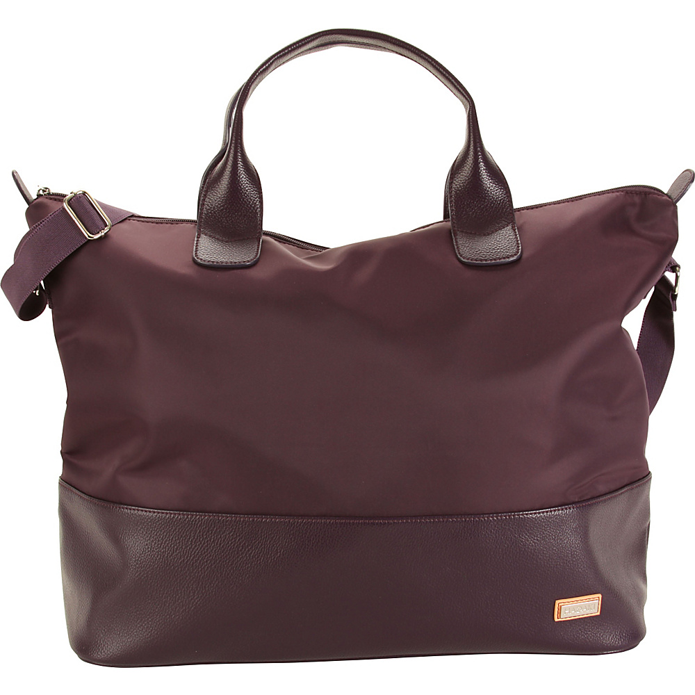 Hadaki Hamptons Tote Plum Perfect Solid - Hadaki Luggage Totes and Satchels - Luggage, Luggage Totes and Satchels