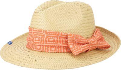 Keds Straw Flat Brim Fedora One Size - Birds of Paradise Aztec Geo - Keds Hats/Gloves/Scarves