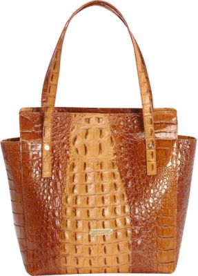 Leatherbay Pavia Italian Leather Tote Brown - Leatherbay Leather Handbags