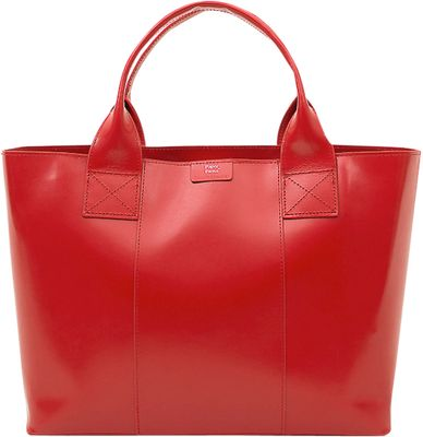 Paperthinks Shopping Bag Scarlet - Paperthinks Leather Handbags