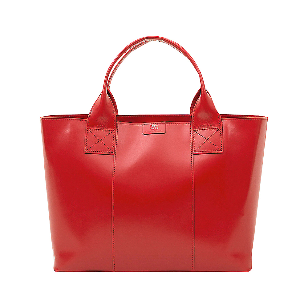 Paperthinks Shopping Bag Scarlet Paperthinks Leather Handbags