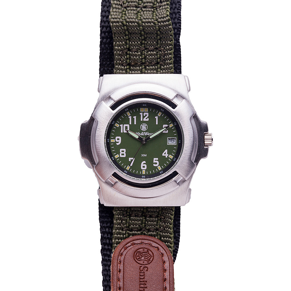 Smith & Wesson Watches Lawnman Watch with Nylon Strap Olive Drab - Smith & Wesson Watches Watches