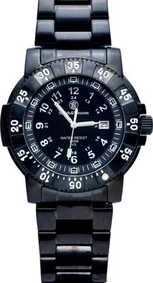 Smith & Wesson Watches Commander Tririum H3 Watch with Stainless Steel Strap Black - Smith & Wesson Watches Watches