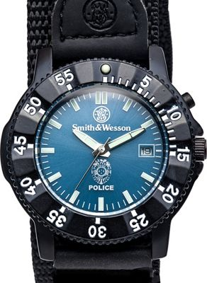 Smith & Wesson Watches Police Watch with Nylon Strap Black - Smith & Wesson Watches Watches