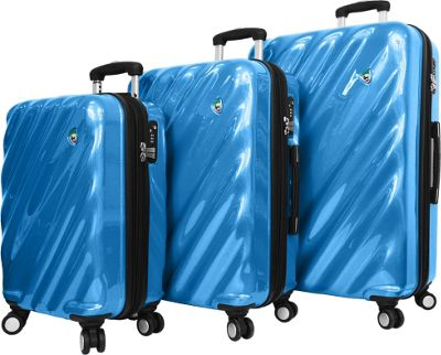Mia Toro ITALY Onda Fusion Hardside Spinner 3PC Set Blue - Mia Toro ITALY Luggage Sets