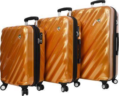 Mia Toro ITALY Onda Fusion Hardside Spinner 3PC Set Orange - Mia Toro ITALY Luggage Sets