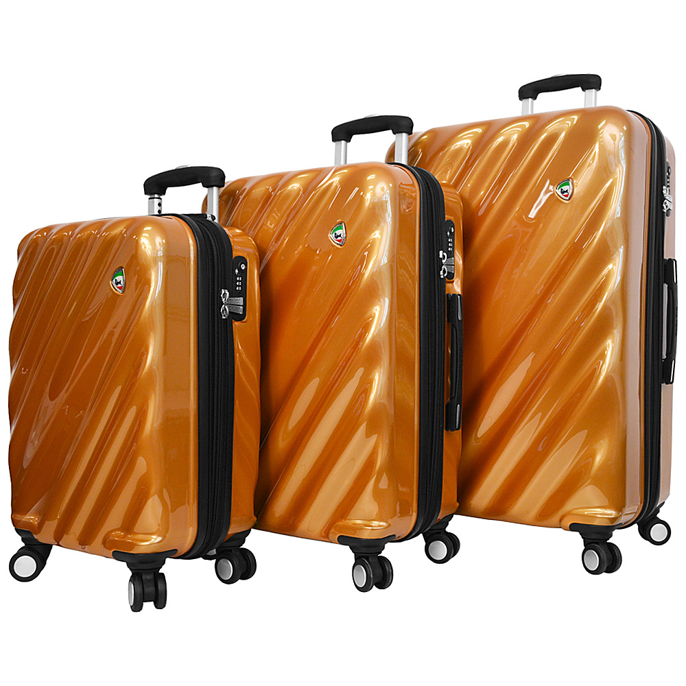 Mia Toro ITALY Onda Fusion Hardside Spinner 3PC Set Orange Mia Toro ITALY Luggage Sets