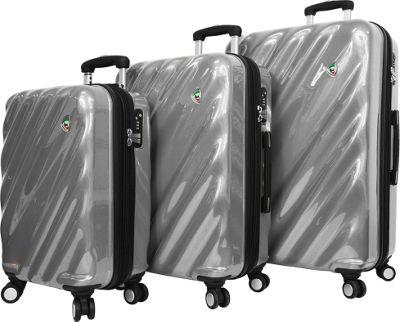 Mia Toro ITALY Onda Fusion Hardside Spinner 3PC Set Grey - Mia Toro ITALY Luggage Sets