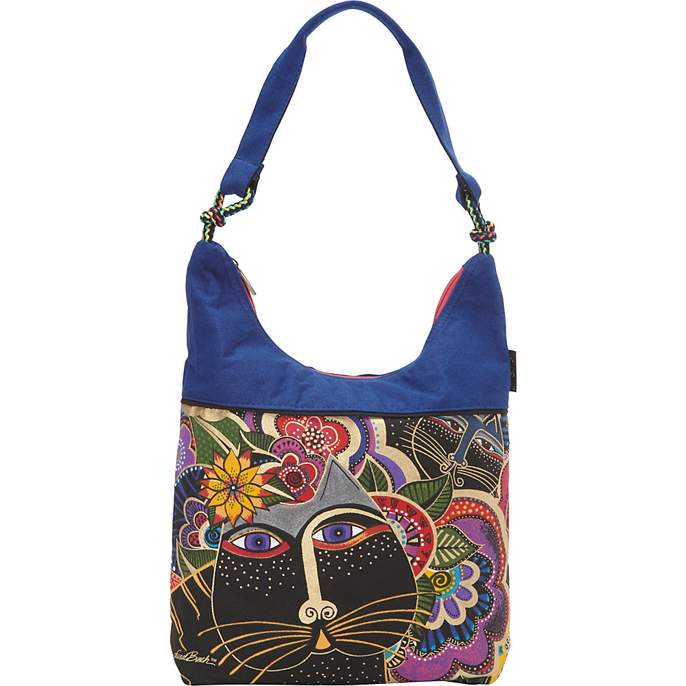 Laurel Burch Carlotta s Cats Scoop Tote Multi Laurel Burch Fabric Handbags