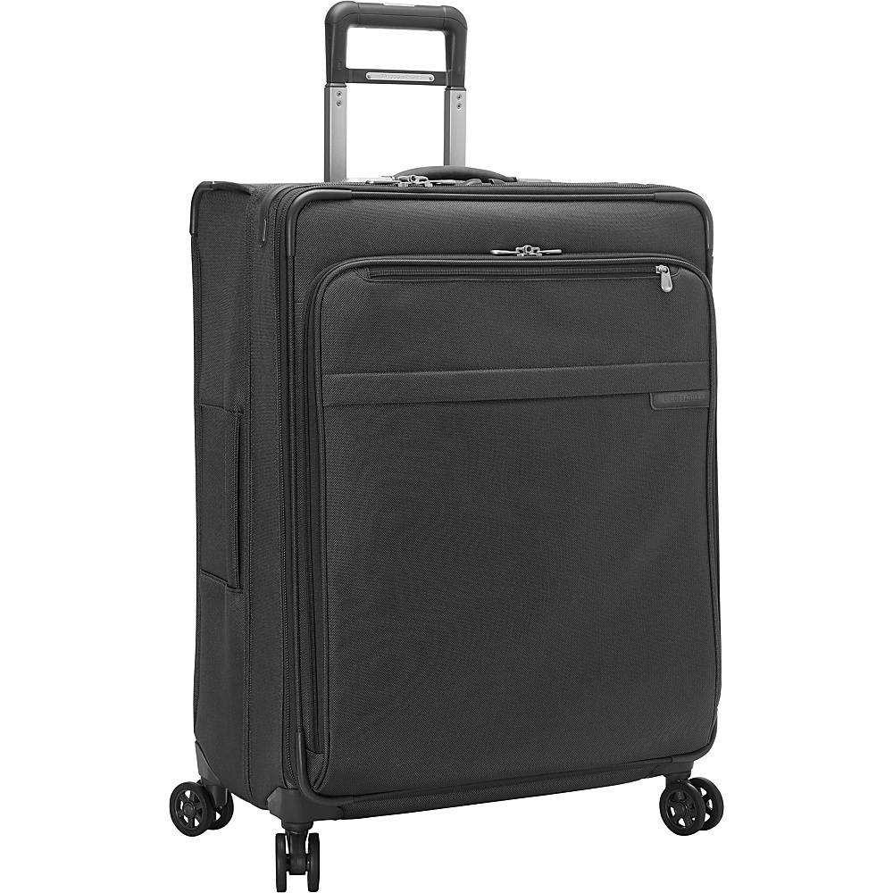Briggs & Riley Baseline CX Large Expandable Spinner Black - Briggs & Riley Softside Checked