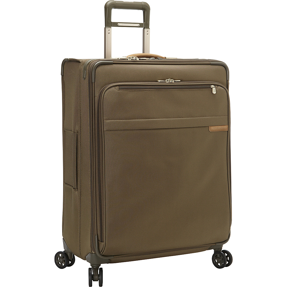 Briggs Riley Baseline CX Large Expandable Spinner Olive Briggs Riley Softside Checked
