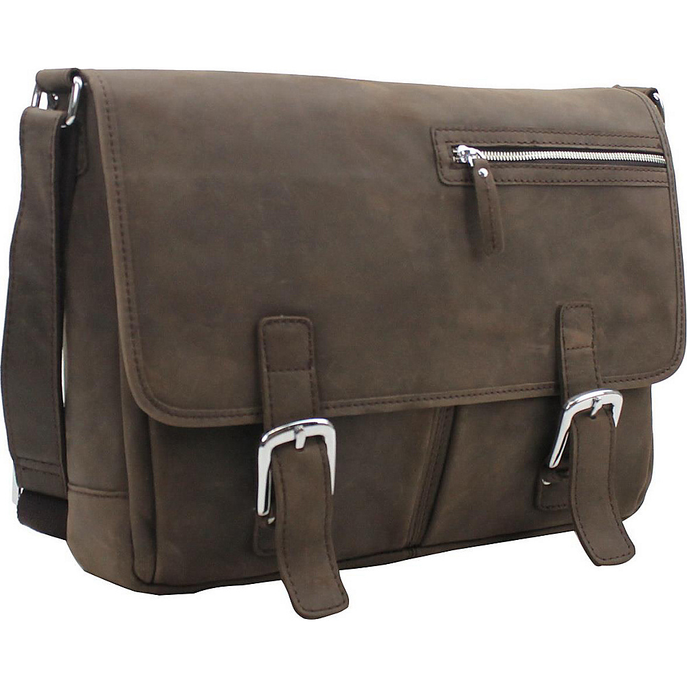 Vagabond Traveler 16 Leather Messenger Bag Distress - Vagabond Traveler Messenger Bags - Work Bags & Briefcases, Messenger Bags