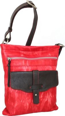 Nino Bossi Squeeze My Slim Crossbody Red - Nino Bossi Leather Handbags