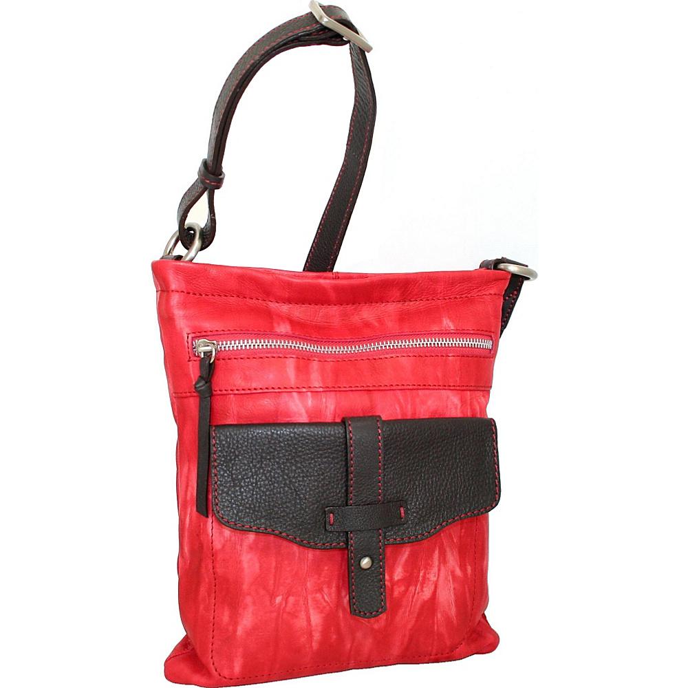 Nino Bossi Squeeze My Slim Crossbody Red Nino Bossi Leather Handbags