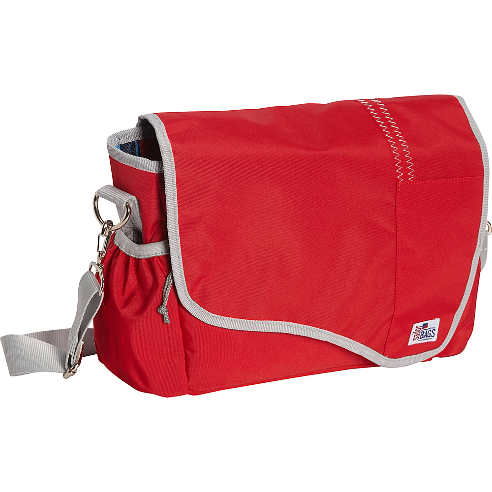 SailorBags Messenger Bag Red Grey SailorBags Messenger Bags