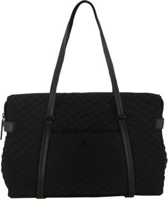 Elliott Lucca Remy Duffel Black Neoprene - Elliott Lucca Designer Handbags