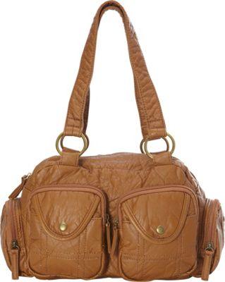 Ampere Creations The Cody Satchel Handbag Brown - Ampere Creations Manmade Handbags