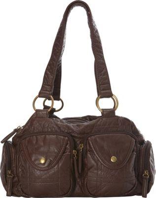 Ampere Creations The Cody Satchel Handbag Chocolate Brown - Ampere Creations Manmade Handbags