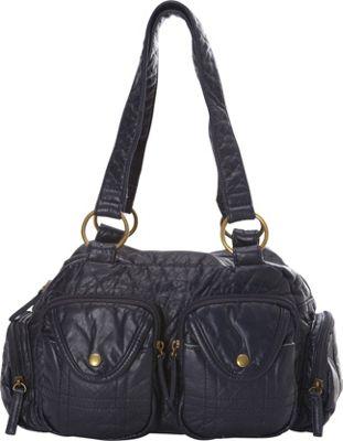 Ampere Creations The Cody Satchel Handbag Dark Blue - Ampere Creations Manmade Handbags
