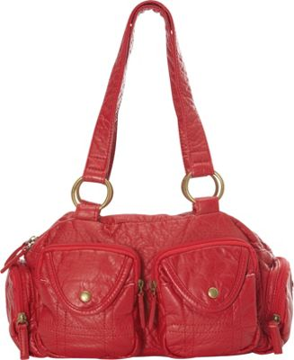 Ampere Creations The Cody Satchel Handbag Red - Ampere Creations Manmade Handbags