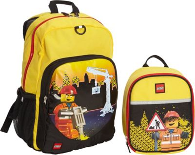 LEGO Construction City Nights Backpack & Construction City Nights Lunch Bag YELLOW - LEGO Everyday Backpacks