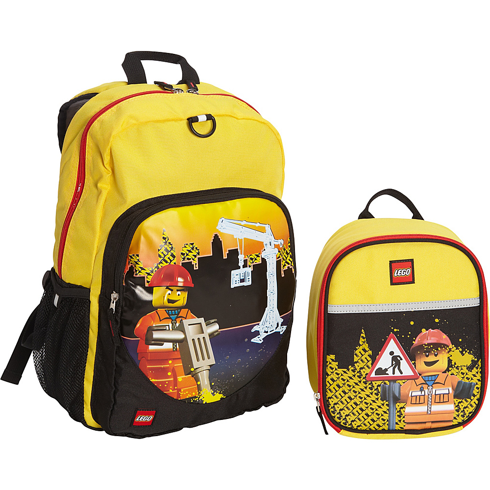 LEGO Construction City Nights Backpack Construction City Nights Lunch Bag YELLOW LEGO Everyday Backpacks