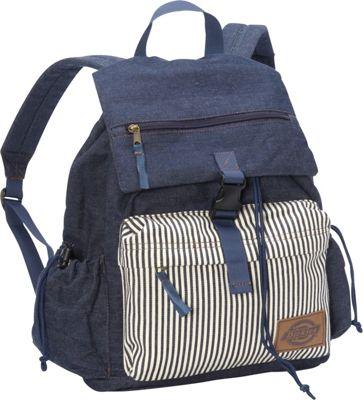 Dickies Ruck Sack Dark Chambray Stripe - Dickies School & Day Hiking Backpacks