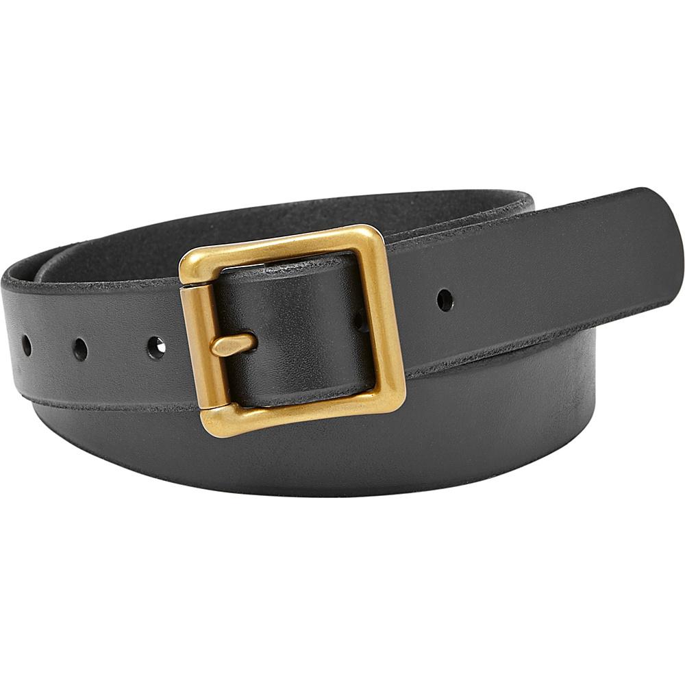 Fossil Modern Roller Buckle Belt L - Black - Fossil Belts - Fashion Accessories, Belts