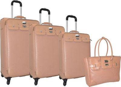 Adrienne Vittadini Paris 4 PC Luggage Set Natural - Adrienne Vittadini Luggage Sets