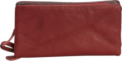 Journey Collection by Annette Ferber Barcelona Bifold Detachable Wallet Burgundy - Journey Collection by Annette Ferber Women's Wallets