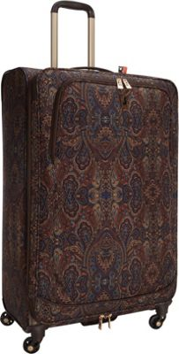 London Fog Soho 29 inch Expandable Spinner Brown Paisley - London Fog Softside Checked