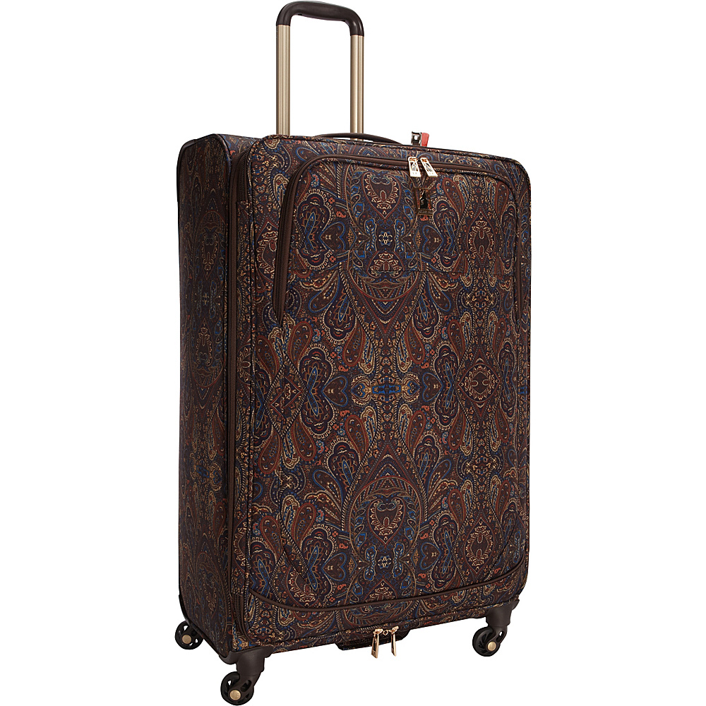 "London Fog Soho 29"" Expandable Spinner Brown Paisley - London Fog Softside Checked"