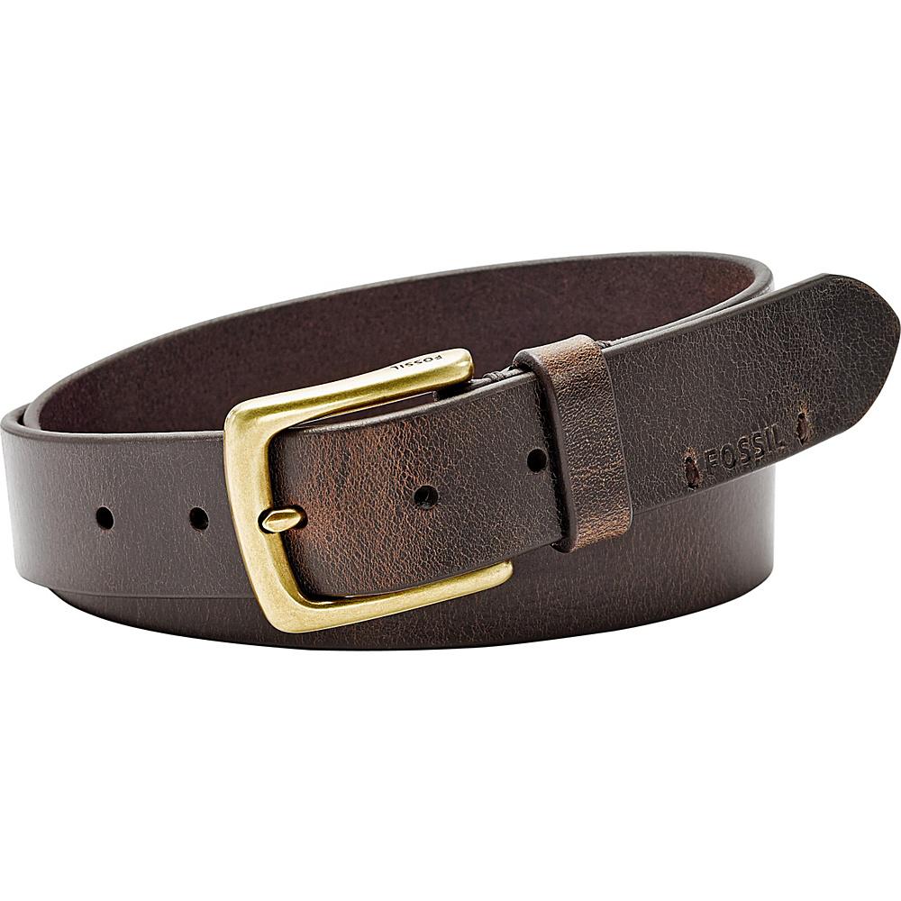Fossil Bison Series Belt 44 - Dark Brown - Fossil Belts - Fashion Accessories, Belts