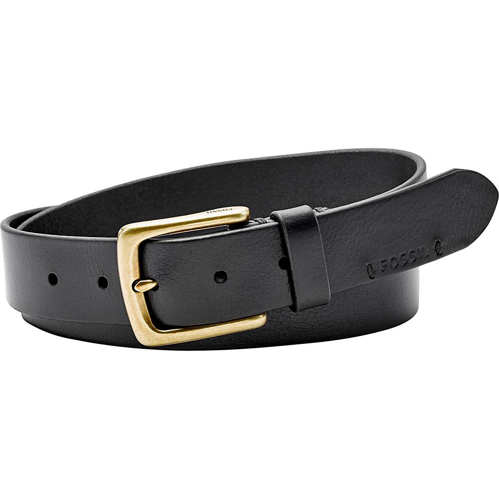Fossil Bison Series Belt 44 - Black - Fossil Belts - Fashion Accessories, Belts