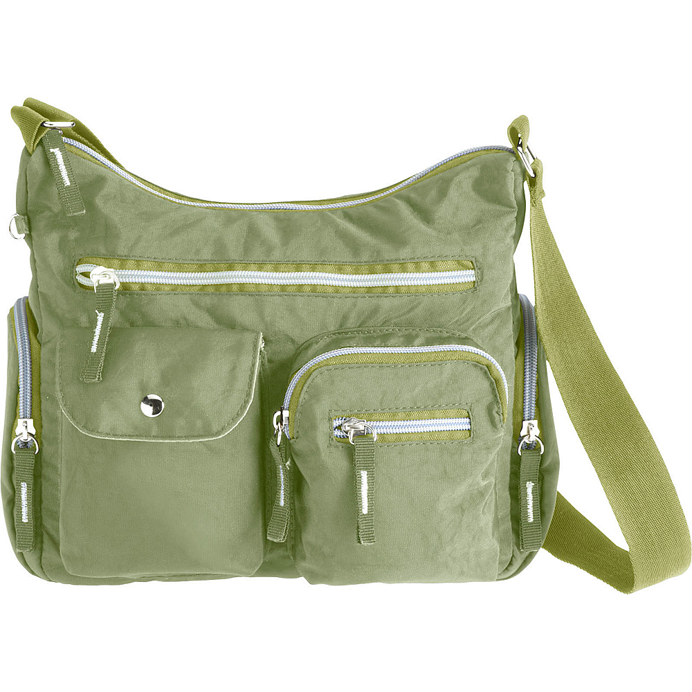 High Road AnyDay Pocket Satchel Travel Bag Olive High Road Fabric Handbags