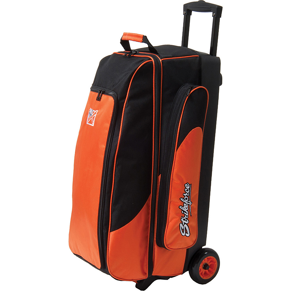 KR Strikeforce Bowling Cruiser Smooth Triple Roller Bag Black Orange KR Strikeforce Bowling Bowling Bags