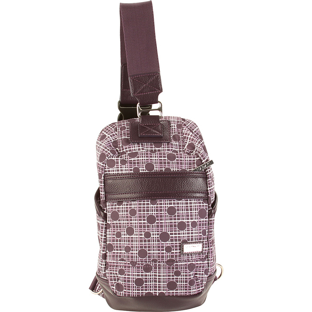 Hadaki Urban Sling Plum Perfect Plaid - Hadaki Everyday Backpacks - Backpacks, Everyday Backpacks