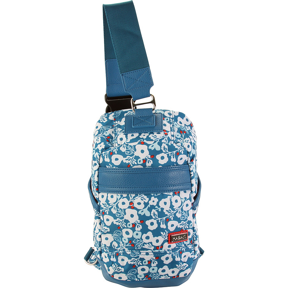 Hadaki Urban Sling Berry Blossom Teal - Hadaki Everyday Backpacks - Backpacks, Everyday Backpacks
