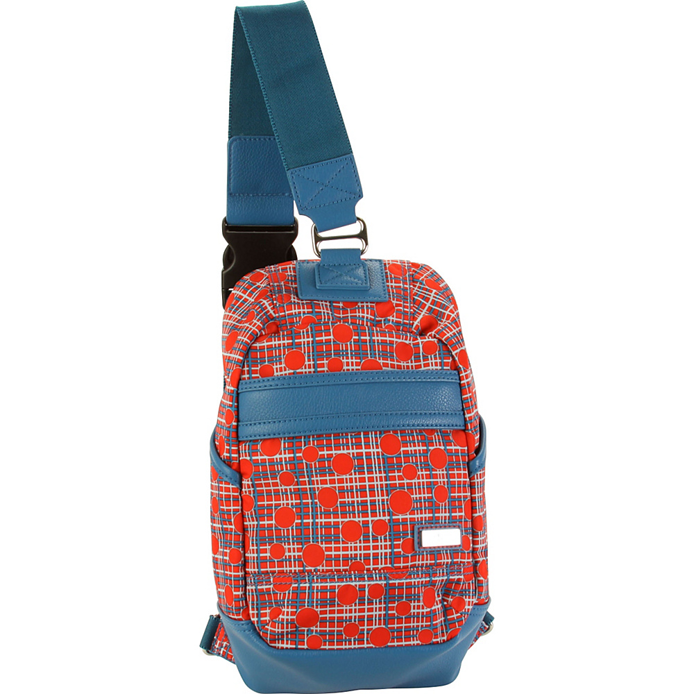 Hadaki Urban Sling Fiery Red Plaid - Hadaki Everyday Backpacks - Backpacks, Everyday Backpacks