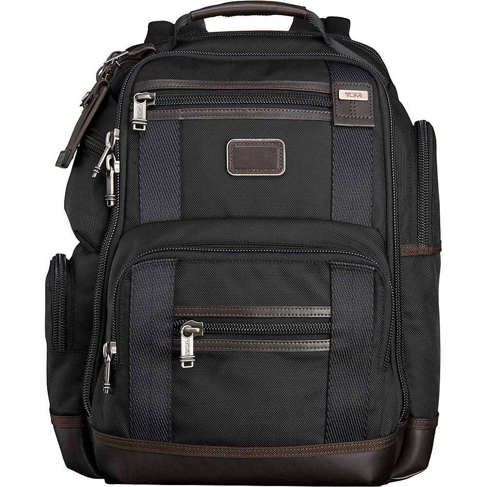 Tumi Alpha Bravo Kingsville Deluxe Brief Pack Hickory - Tumi Laptop Backpacks