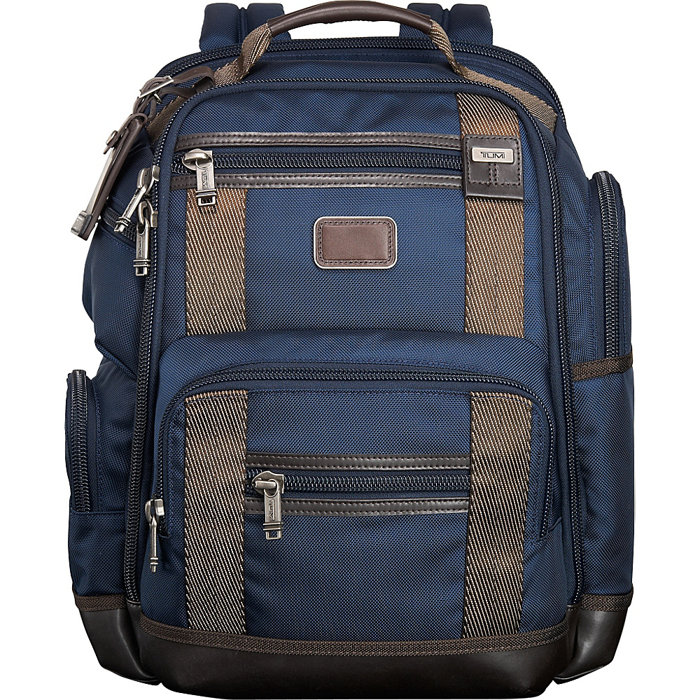 Tumi Alpha Bravo Kingsville Deluxe Brief Pack Navy - Tumi Laptop Backpacks