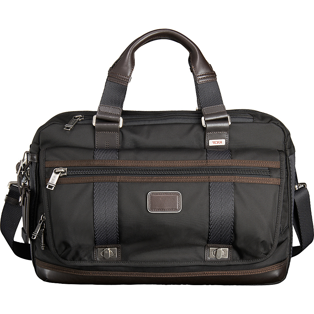 Tumi Alpha Bravo Pinckney Brief Hickory - Tumi Non-Wheeled Business Cases - Work Bags & Briefcases, Non-Wheeled Business Cases