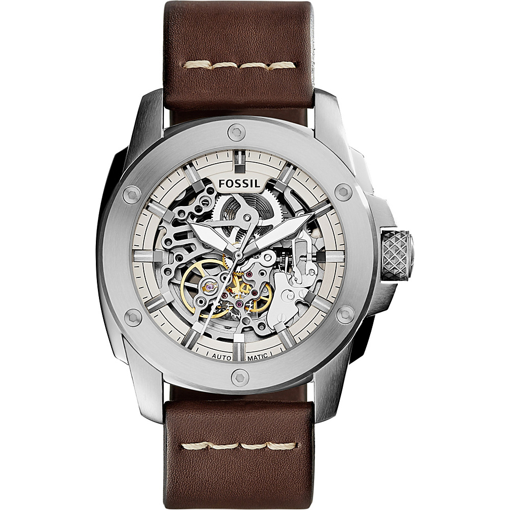Fossil Modern Machine Automatic Leather Watch Brown - Fossil Watches - Fashion Accessories, Watches