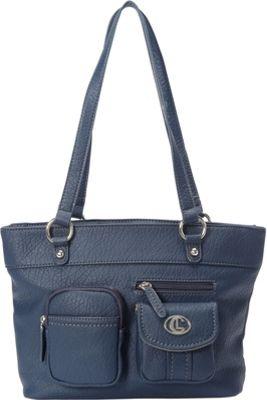 Aurielle-Carryland Bernina Tote Navy - Aurielle-Carryland Manmade Handbags