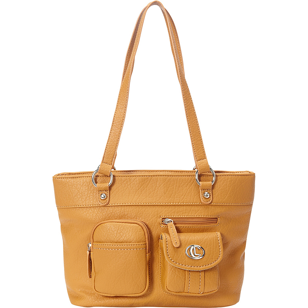 Aurielle Carryland Bernina Tote Tan Aurielle Carryland Manmade Handbags
